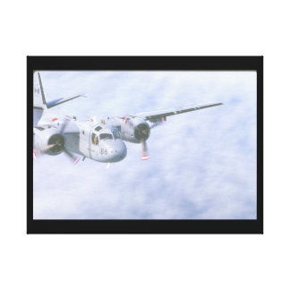 Tracker. (tracker;clouds;airplane_Military Aircraf Canvas Print