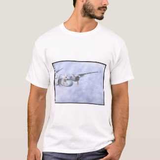 Tracker. (tracker;clouds;airplane_Military Aircraf T-Shirt
