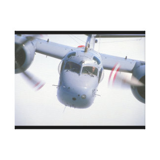 Tracker. (tracker;sky;airplane_Military Aircraft Canvas Print