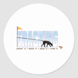 Tracking, Doberman Classic Round Sticker