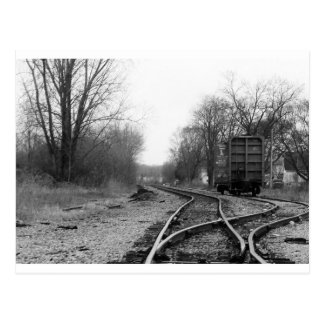 """tracks"" by Coressel Productions Postcard"