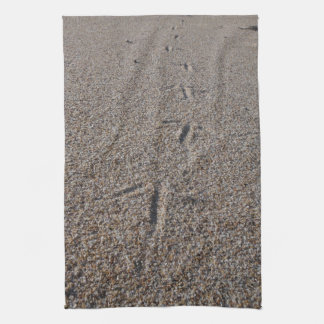 tracks in the sand tea towel