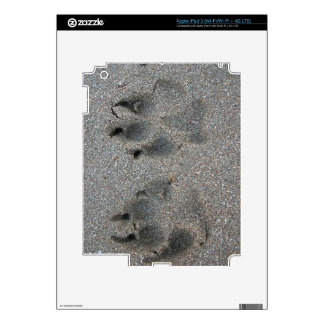 Tracks of dog in sand decals for iPad 3