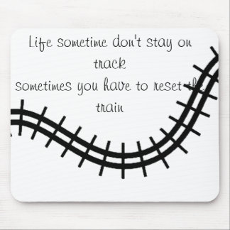 Tracks of Life_ Mouse Pad