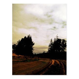 Tracks Postcard