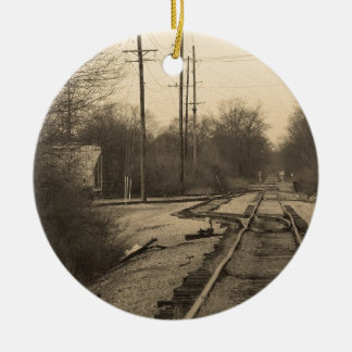 Tracks to Nowhere Christmas Tree Ornament