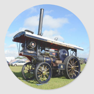 Traction Engine Renown Classic Round Sticker