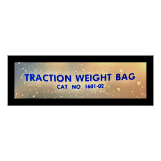 Traction Weight Bag Poster