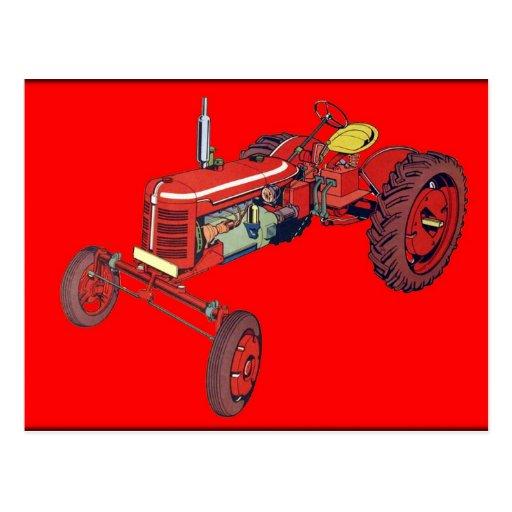tractor2 tarjeta postal