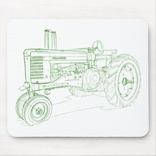Tractor 1939 del modelo A de JD Tapetes De Ratones