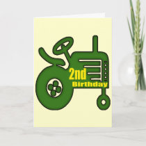 Tractor 2nd Birthday Gifts Card