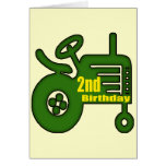 Tractor 2nd Birthday Gifts Greeting Card