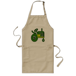 Tractor 2nd Birthday Gifts Long Apron