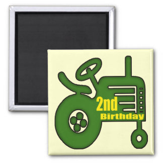 Tractor 2nd Birthday Gifts Magnet