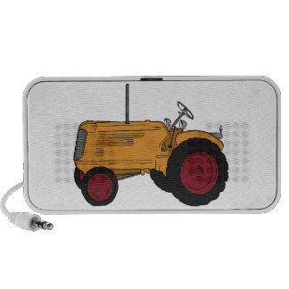 Tractor amarillo iPod altavoces