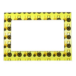 Tractor amarillo marcos magneticos para fotos
