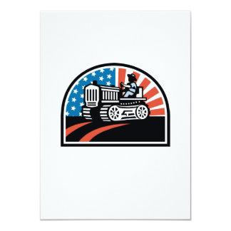 """Tractor americano del vintage del montar a caballo invitación 4.5"""" x 6.25"""""""
