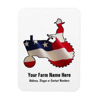 Tractor americano orgulloso de la bandera de los E Iman