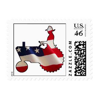 Tractor americano orgulloso de la bandera de los E