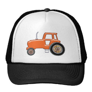 Tractor anaranjado brillante gorro