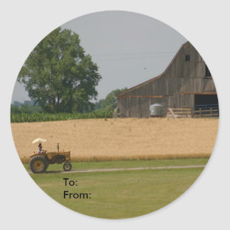 Tractor and Barn Gift Tag