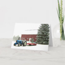 Tractor and Barn Holiday Card