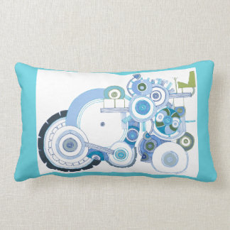 Tractor and Fish Throw Pillow