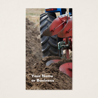 Tractor and Plow business card