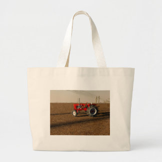 Tractor and territories of farming large tote bag
