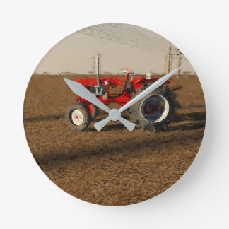Tractor and territories of farming round clock