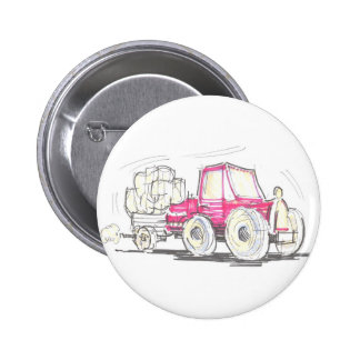 Tractor and Trailer Button Badge