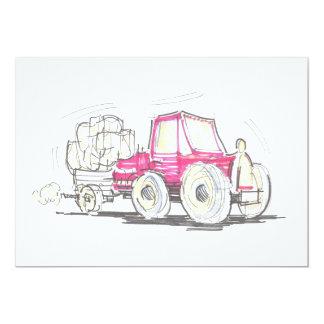 Tractor and Trailer Invitation