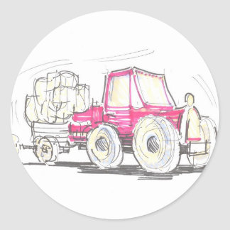 Tractor and Trailer Sticker