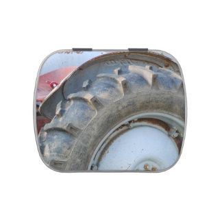 tractor antiguo latas de dulces