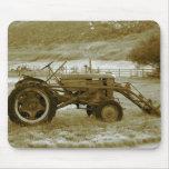 Tractor antiguo Mousepad Alfombrilla De Raton