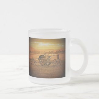 Tractor antiguo tazas de café