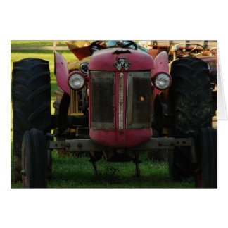 TRACTOR AT REST CARD