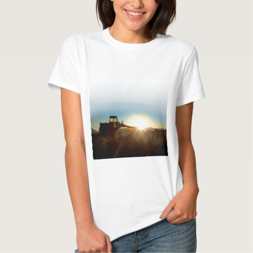 Tractor at Sunrise Ladies T-shirt
