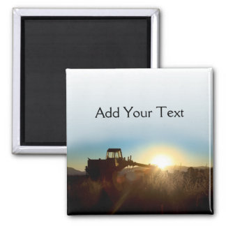 Tractor at Sunrise Magnet