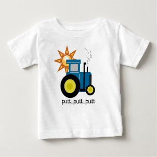 Tractor azul playera de bebé