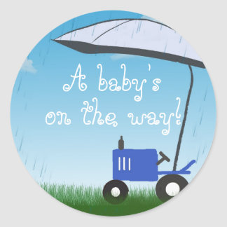 Tractor Baby Shower Envelope Seal