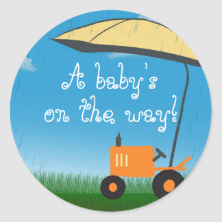 Tractor Baby Shower Envelope Seal Stickers