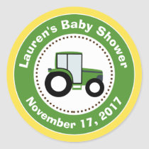 Tractor Baby Shower Favor Stickers Tractor Boy