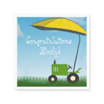 Tractor Baby Shower Napkins