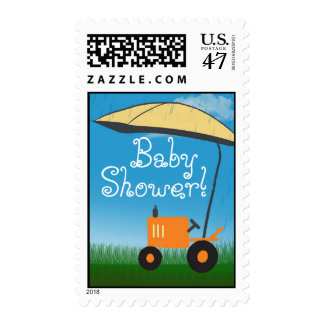 Tractor Baby Shower Postage