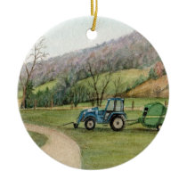 Tractor Bailer Ornament