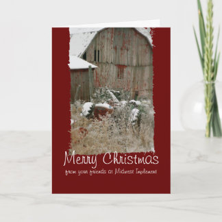 Tractor & Barn Christmas Card