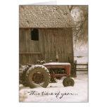 Tractor & Barn Christmas Card