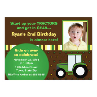 tractor birthday invitations & announcements | zazzle, Birthday invitations