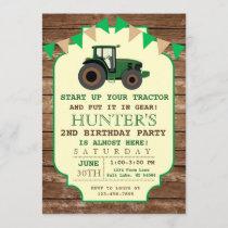 Tractor Birthday Invitation, Farm Birthday Invitation